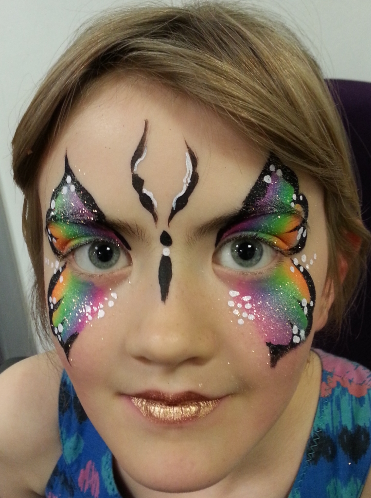 Rainbow butterfly rainbow butterfly for Face painting business