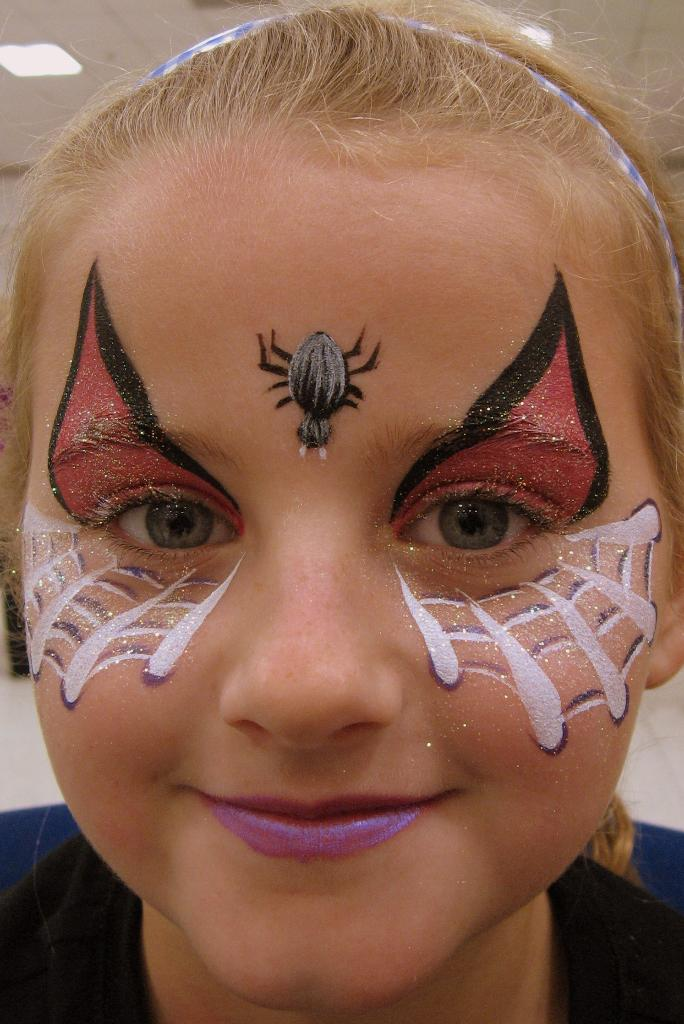 Spidergirl spidergirl for Face painting business