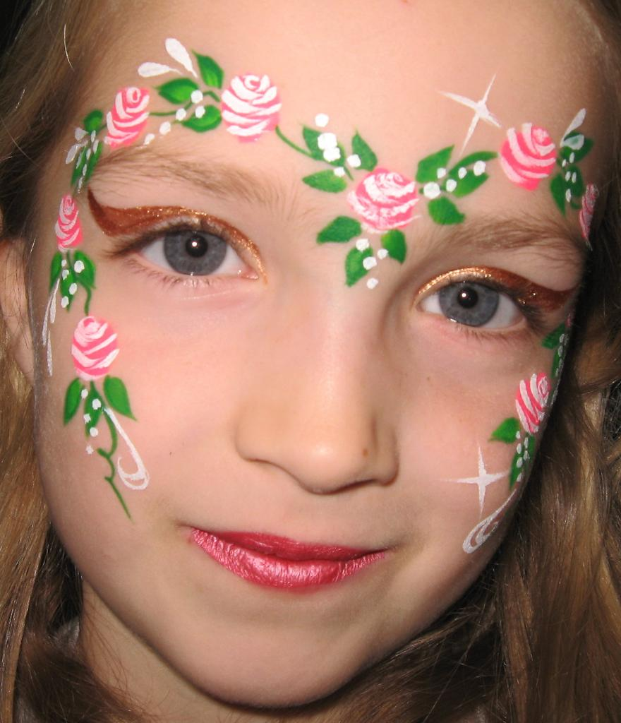 Rose fairy rose fairy for Face painting business